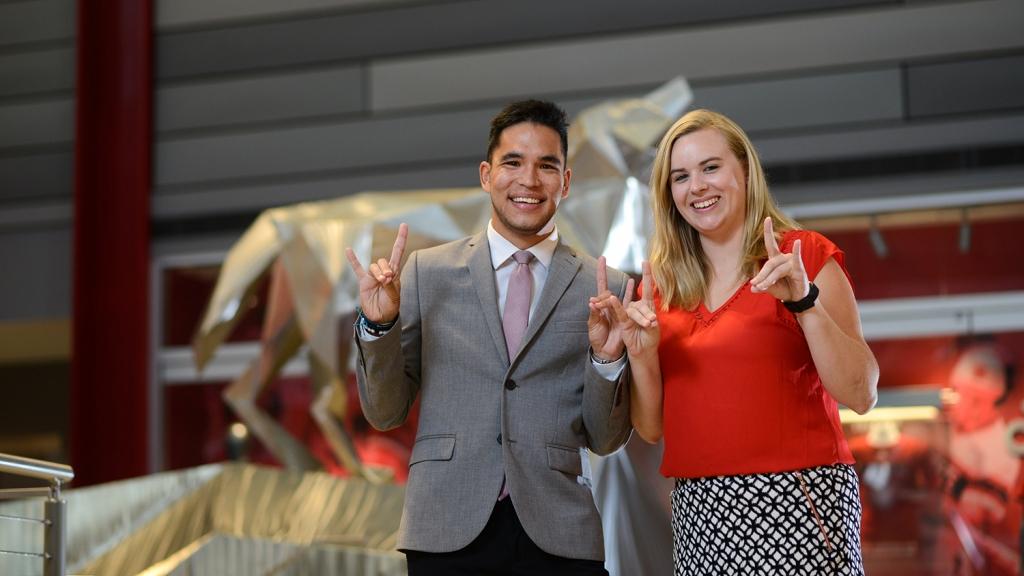 Bryan Hum and Laura Wilkinson