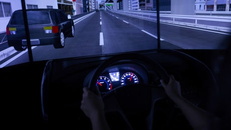 driving simulator dashboard