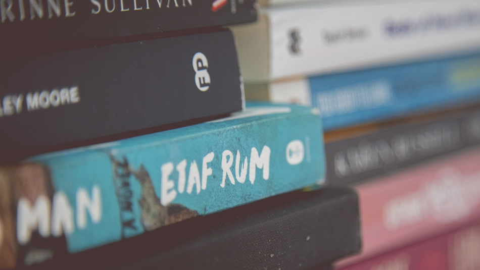 Etaf Rum's book sitting on a window sill