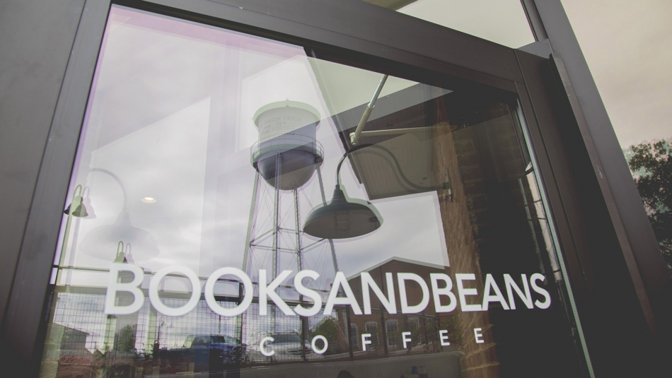 door of Books and Beans