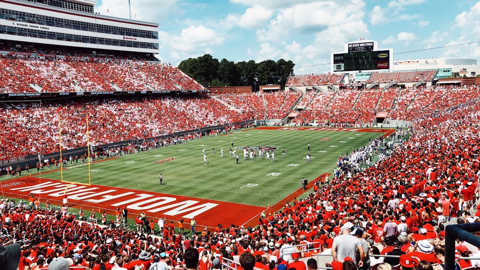 Carter Finley stadium on game day.