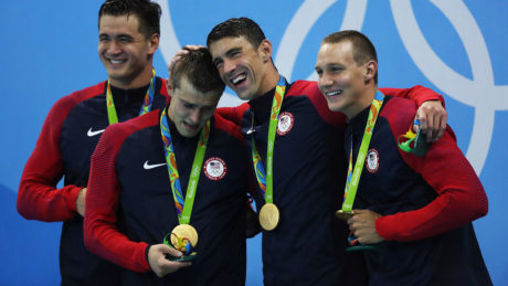 Swimmer Ryan Held won a gold medal for the United States