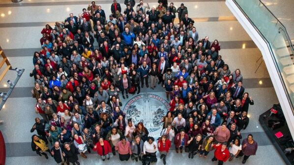 DASA employees pose for a group photo in Talley Student Union