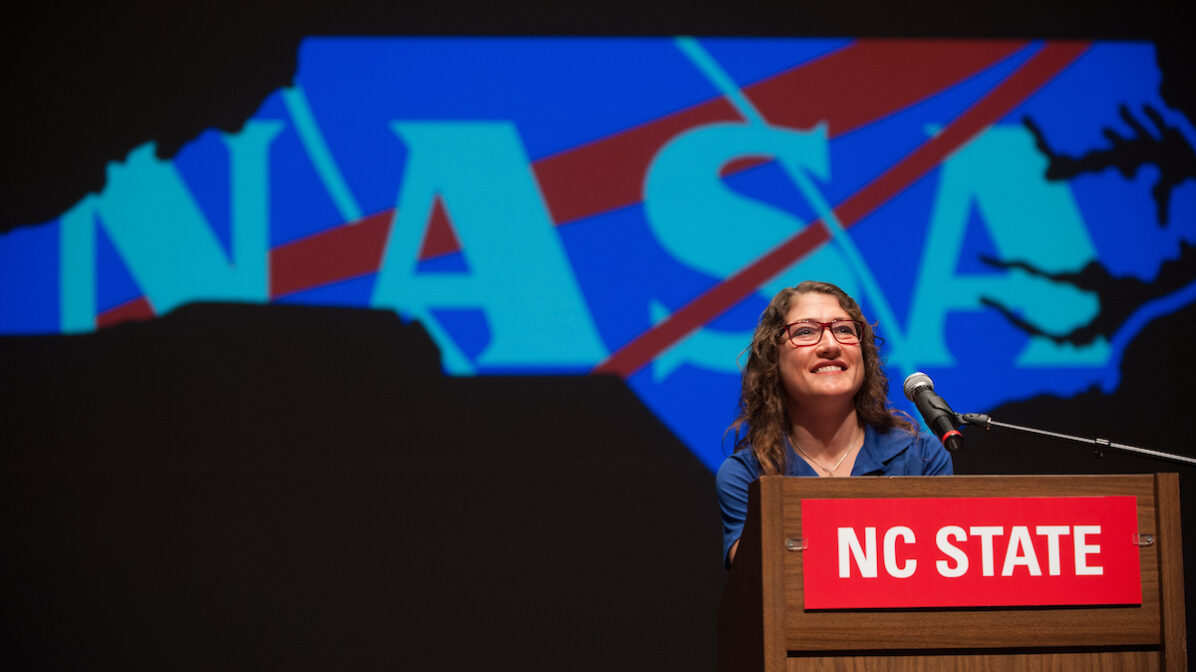NC State graduate and astronaut Christina Koch. Photo by Marc Hall