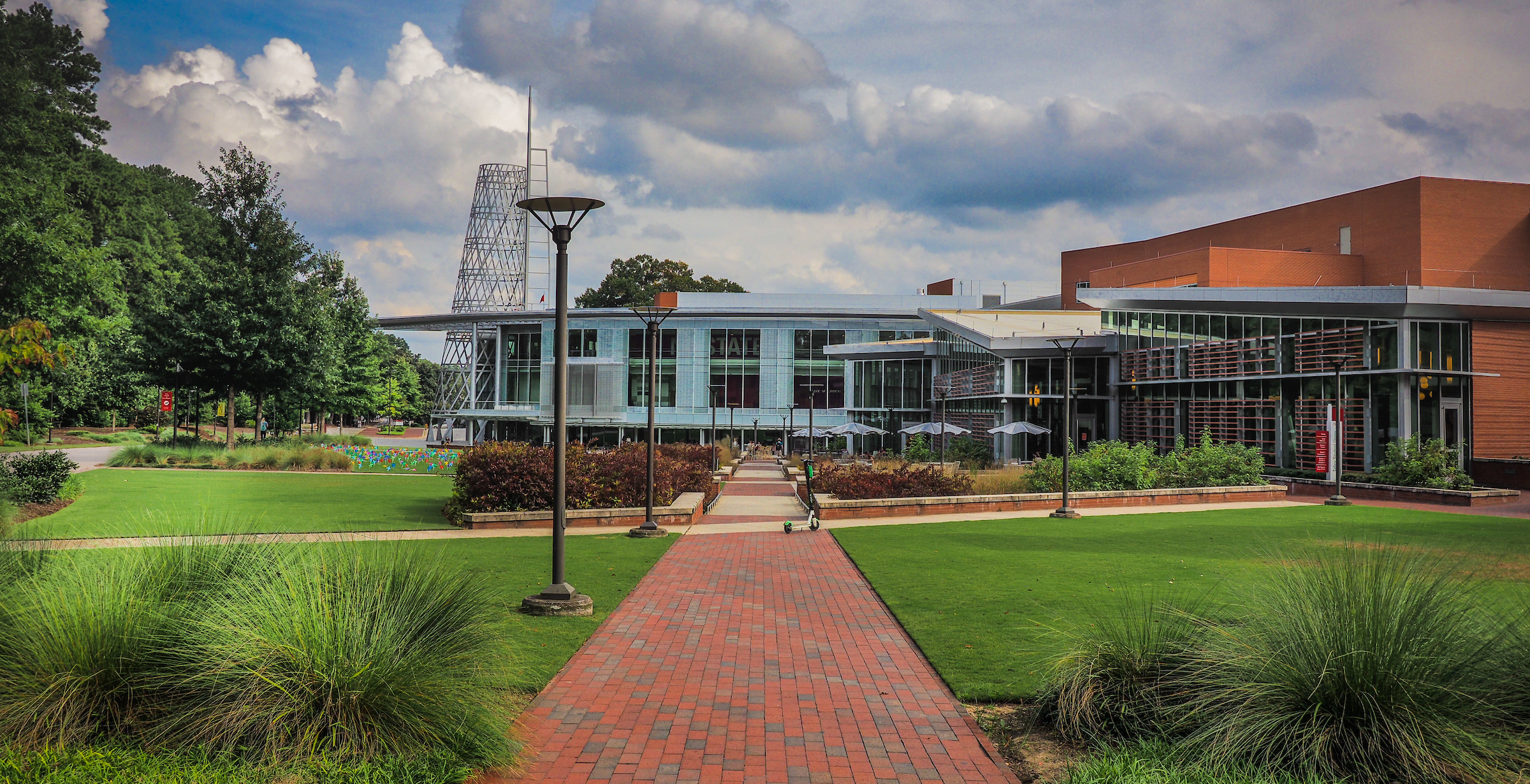 The Talley Student Union on a summer day