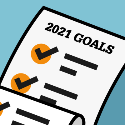Graphic showing a list of goals
