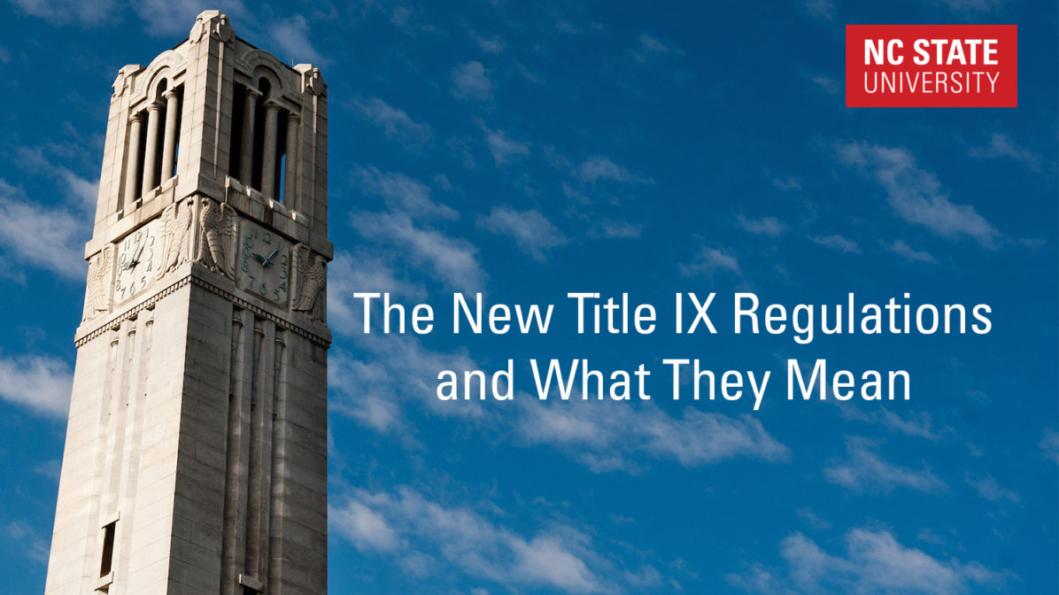 The New Title IX Regulations and What They Mean