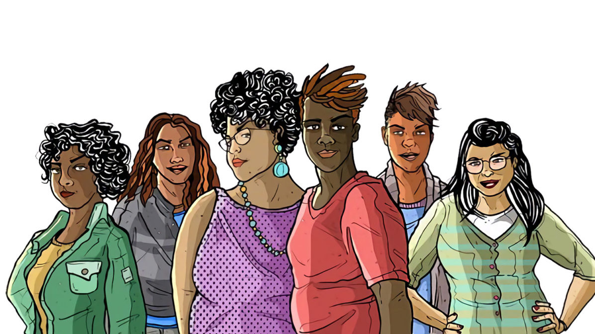 Queer and trans people of color illustration
