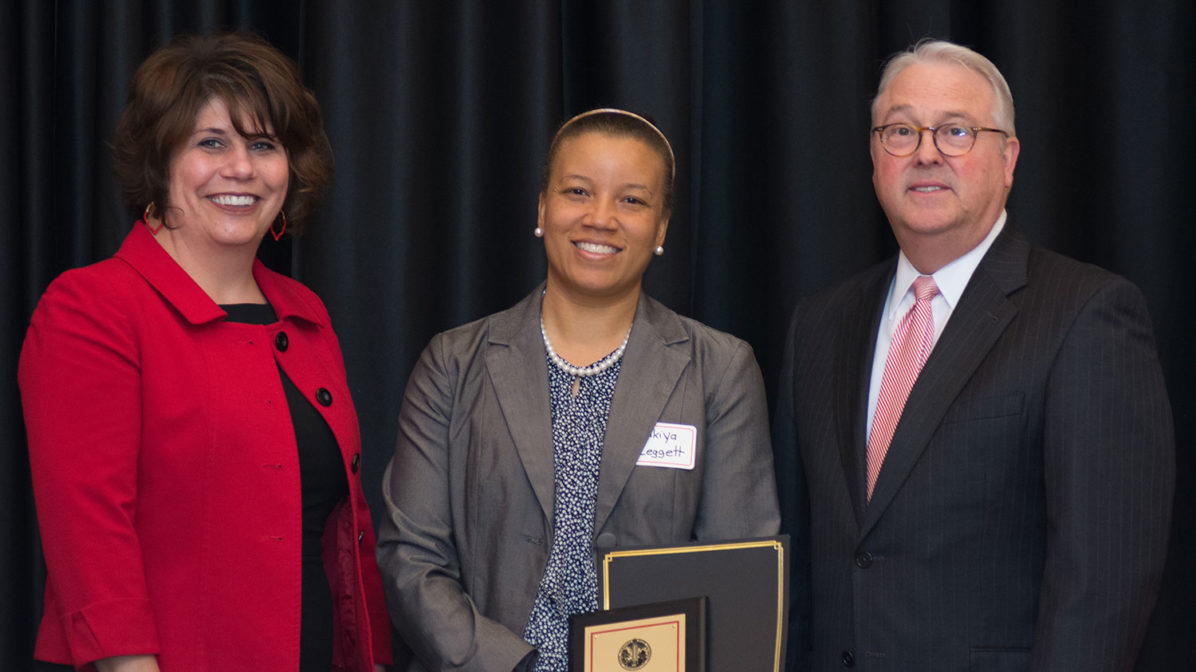 2019 Chancellor' Creating Community Award faculty winner Zakiya Leggett
