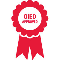 OIED approved ribbon symbol