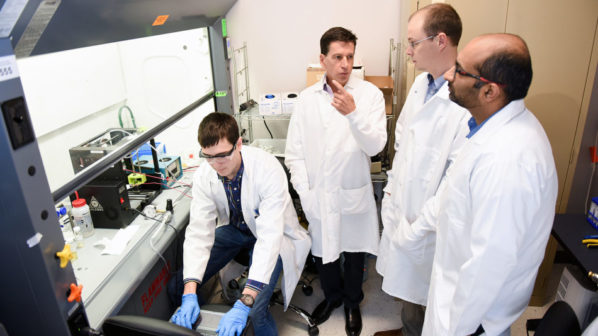 research faculty in lab