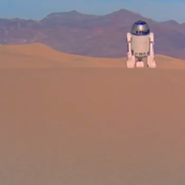 R2-D2 on Tatooine in Star Wars: A New Hope
