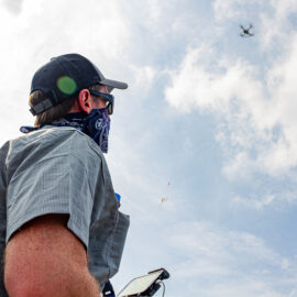 Will Reckling pilots a drone
